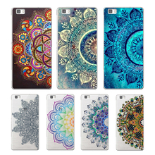 Colorful mandala soft TPU cover for huawei P8 P9 Lite P10 Plus NOVA MATE 8 9 honor 8 case for huawei p8 lite 2017 phone capa