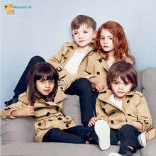 Girls Boys Jacket 2018 Spring Children British Style Windbreaker Baby Girls Boys Double Breasted Coat Kids Clothes