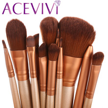 ACEVIVI 12Pcs Makeup Brush Kit Professional Cosmetic Set Powder Foundation Eyeshadow Eyeliner Lip Brush Tool Pincel Maquiagem
