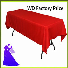 Big Discount !!! 10pcs 150*320cm Rectangleblue table cloth 180GSM For Wedding Events &Hotel & Banquet Free shipping