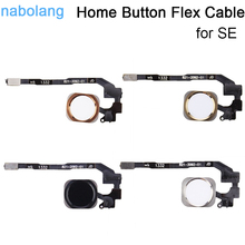 Home Button Fingerprint button Flex Cable For iphone SE Replacement parts without Touch ID Replacemenrt Repair Spare Parts