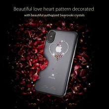 KINGXBAR for iPhone X 10 Case Authorized Swarovski Crystal Rhinestone Daimond PC Hard Cover Case for Apple iPhone X Coque Capa(China)