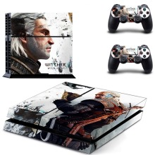 PS4 Skins Best Buy The Witcher 3:Wild Hunt Hot Vinyl Skin Sticker For Sony PlayStation 4 Console For PS4 Dualshock 4 Controller(China)