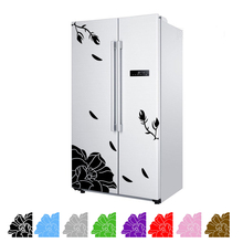One Set Magnolia wall sticker refrigerator sticker creative elegant magnolia wall sticker kitchen home decor