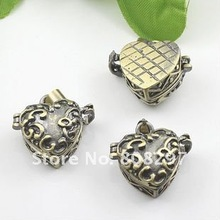 DIY 10*20mm Fashion Necklace,Pendant Bronze European style Prayer Craft Photo Frame Locket Box,Jewelry Finding 20pcs/lot