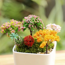 Artificial Tree Miniature Fairy Garden Home Houses Decoration Mini Craft Micro Landscaping Decor DIY Accessories