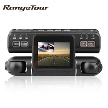 Range Tour Dashcam Dual Lens Car DVR Camera Video Recorder I4000 HD 720P 320 Degree 2.0 Inch LCD G-Sensor Dash Cam Car Black Box(China)
