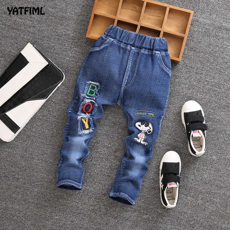 Mickey mouse Baby Boy Pants Elastic Waist Casual Toddler Jeans Pants for 1-4T
