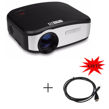 CHEERLUX C6 Mini LED&LCD Projector 800x480 Pixels 1200 Lumens Home Theater HDMI/USB/VGA/AV/TV Proyector HDMI Included as Gift