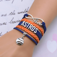 Multilayer Woven Wax Line Bracelet Korea Fashionable Motion Bangle Bracelet Sports Word Combination Bracelet