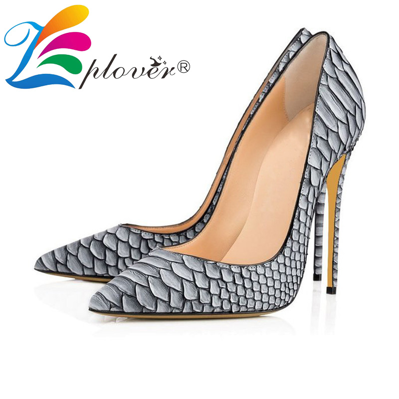 Zplover Brand Shoes Woman High Heel Shoes Thin Heels Pumps Sexy White Fashion Women Wedding Shoes Big Size 34-44<br>