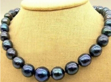 DYY+++817 GENUINE AAA  SOUTH SEA BLACK PEARL NECKLACE
