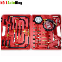 Universal Automotive TU-443 Deluxe Manometer Fuel Pressure Gauge Engine Testing Kit Fuel Injection Pump Tester DHL Free Shipping(China)