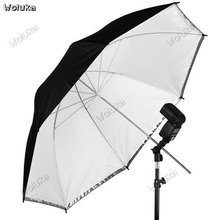 43 inch outer black inner white soft umbrella high quality reflective umbrella flexible umbrella double disassembly CD50 T03(China)