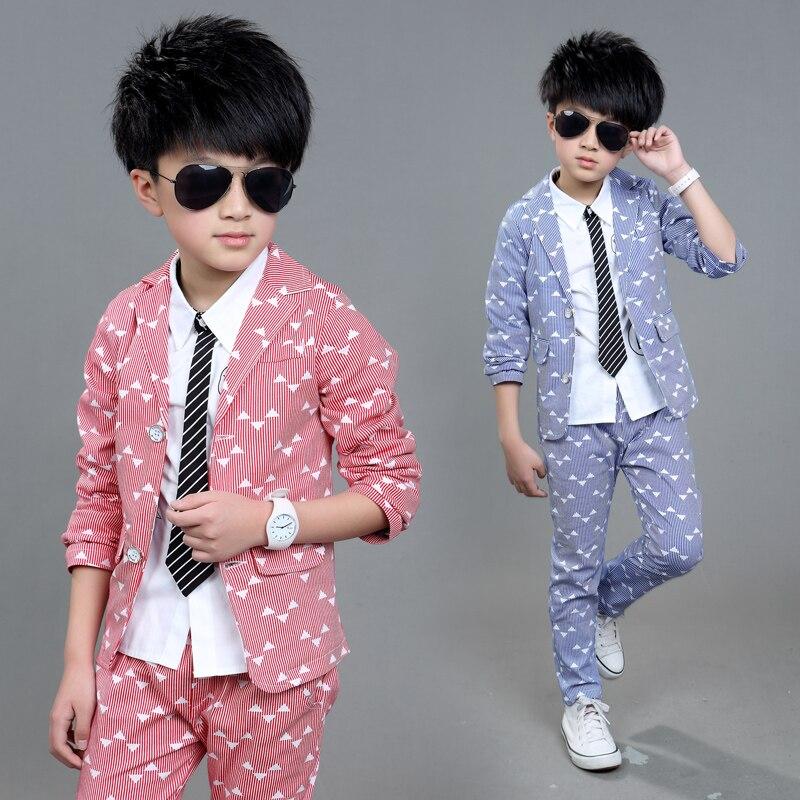 2017 School Uniform Dress For Boys Formal Tuxedo Suits Weddings 2 Pcs Blazer+ Pants Kids Gentleman Party Children Clothing Sets<br>