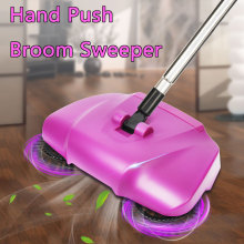 3 in 1 360 Degree Rotary Hand Push Floor Sweeper Broom Mop Dustpan Trash BIn Household Automatic Cleaning Tools Mops 2 Colors(China)