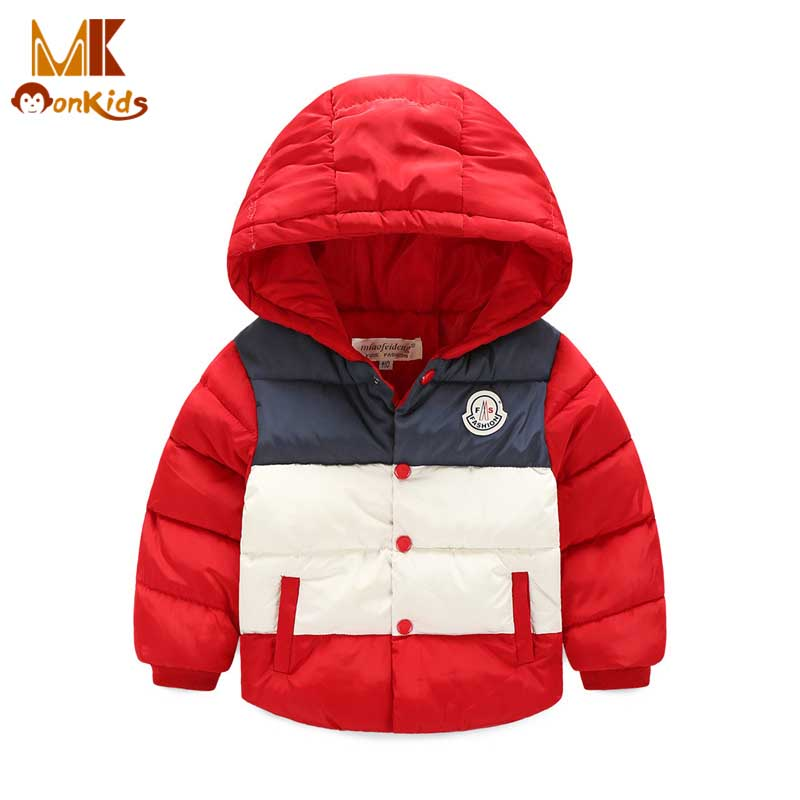 Monkids Winter Jacket for Girls Boys Winter Jacket Down Coat&amp;Jackets For Children Outerwear Clothing Kids Clothes PatchworkОдежда и ак�е��уары<br><br><br>Aliexpress