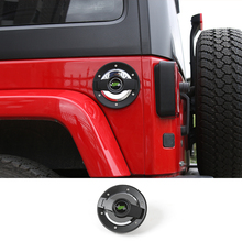New Style Gas Tank Cap Cover Fuel Filler Door for 2007-2017 Jeep Wrangler JK 2/4 Door