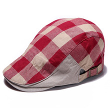 New Men Women Checked Duckbill Ivy Cap Golf Driving Flat Cabbie Newsboy Beret Hat