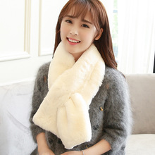 Winter Sale Adult Faux Fur Nylon 2017 Fashion Real Rex Rabbit Fur Women Winter Shawl Solid Color For Infinity Pom Poms Scarves