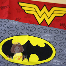 Batman, Wonder Woman logo The Avengers Super hero Cotton Sewing Fabric DIY boy Handmade Material Hometextile Patchwork For Bag