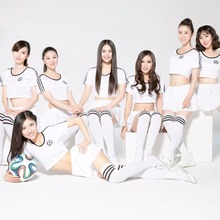 Cheerleading Uniforms football girl white Cheerleading Uniforms free shipping