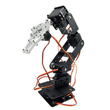 6 Free Degree Mechanical Arm Hand Robot Teaching Platform Multiangle Robotic without Servo Horns(China)