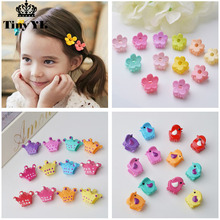 10pcs/lot Cute kids hair claws Crown hair accessories Princess girls hair clips Hot-sale Barrette Top-end Hairgrips Basin(China)
