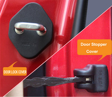 FIT FOR TOYOTA HIGHLANDER KLUGER 2014-2016 DOOR LOCK COVER ARM CHECK CHECKER BUCKLE STOPPER ARRESTER CATCH CASE CAP HINGE SHELL(China)