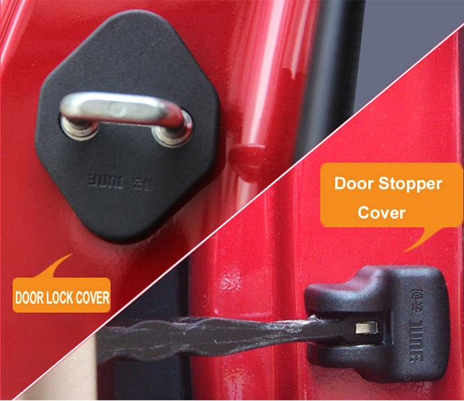 FIT FOR TOYOTA HIGHLANDER KLUGER 2014-2016 DOOR LOCK COVER ARM CHECK CHECKER BUCKLE STOPPER ARRESTER CATCH CASE CAP HINGE SHELL(China (Mainland))