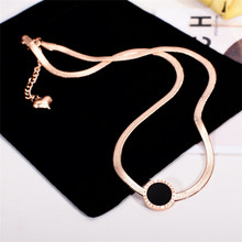 YUN RUO Fashion Brand Rose Gold Color Elegant Snake Chain Choker Necklace Woman Party 316L Stainless Steel Jewelry High Polish(China)