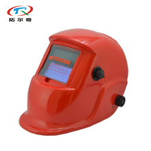 Free Shipping Solar Battery Auto Darkening Manufacturer Red China Welding Helmet Solar Grinding Adjust 90*40mm TRQ-HP03(2200DE)