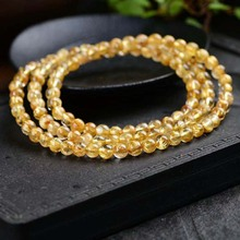 Buy Quartz Rutilated.Three lap Bracelet.Size beads4.5 for $23.00 in AliExpress store