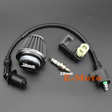 Air Filter Performance CDI Box  Ignition Coil Spark Plug for Gy6 PD 24J 150cc Scooter