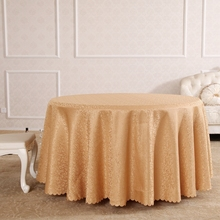 European Khaki Character Rectangle Small Polyester Jacquard Tablecloths Hotel Dining Table Round Cloth Cover For S
