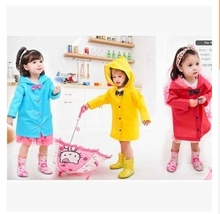 S-XXL Cartoon Kids Raincoat Evironment Waterproof Raincoat Baby Baby Girl Lovely Bow Rain Suit 2015 Poncho Raincoat