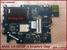 Warranty 60 days !!! NAWA2 LA-5972P Laptop Motherboard Suitable For Lenovo G555 Notebook PC(China)