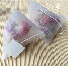 1000pcs/lot Corn Fiber Tea bags PLA Biodegraded Tea Filters Quadrangle Pyramid Heat Sealing Filter Bags 55*70mm