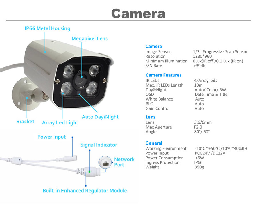 960P 1.3MP 8ch poe security system 8ch NVR kit 8ch Surveillance camera system IP Camera system K8N76W54ISX 8-5