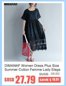 DIMANAF Women Summer Dress Big Size Cotton Linen Casual Soft Style Black Polka Dot Oversized Loose Female Sundress Clothing 2018 7