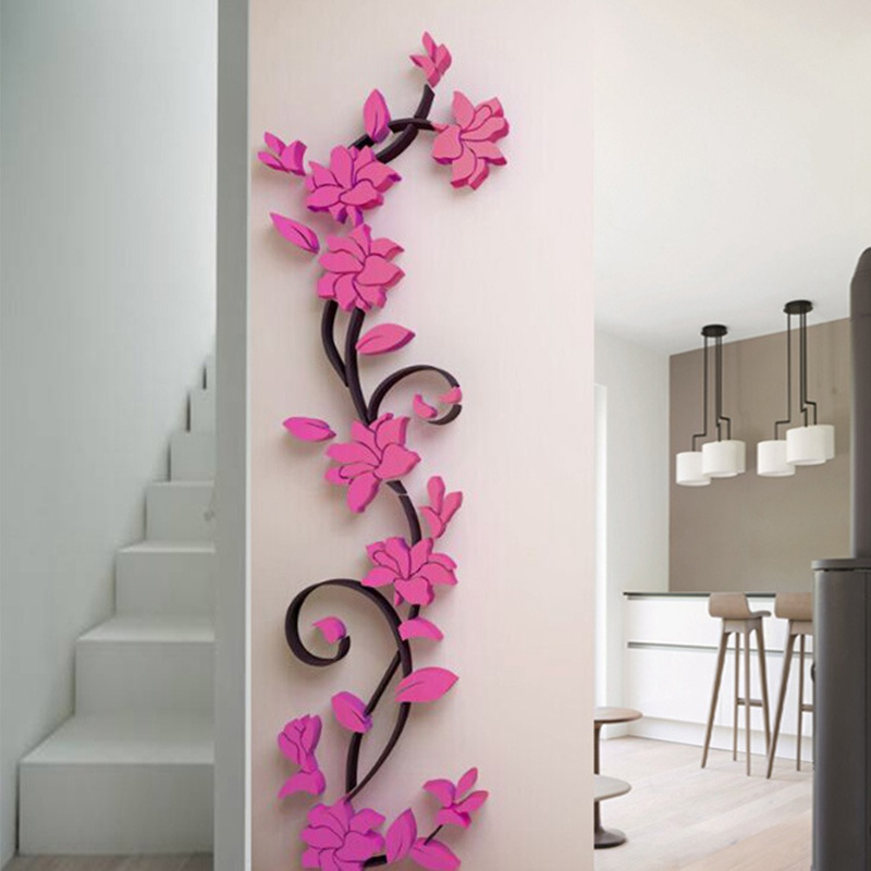 HTB16hF3dcrI8KJjy0Fhq6zfnpXa9 - Hoomall Acrylic Flower Wall Stickers Poster New Year Decorations Removable Stickers for Kitchen DIY Wall Stickers for Kids Rooms