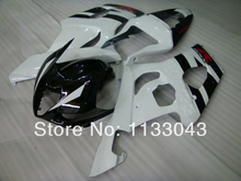 Injection For SUZUKI GSX-R1000 K3 03 04 Black/white GSX R1000 K3 GSXR 1000 2003 2004 GSXR1000 Fairing Kit+7gifts