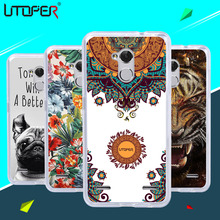 ZTE Blade V7 Lite Brand Cute Cartoon Mandala Flower Printed TPU Soft Back Case 4G Marble Stone Phone Cover - YTD TECHNOLOGY CO., LTD. store