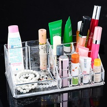Urijk 1Pc New Creative Clear Acrylic Storage Holder Box Transparent Stick Cosmetic Makeup Organizer Case Storage Box
