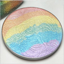Woman Beauty Rainbow light Rainbow Eyeshadow Blush Baking Powder Makeup Palette