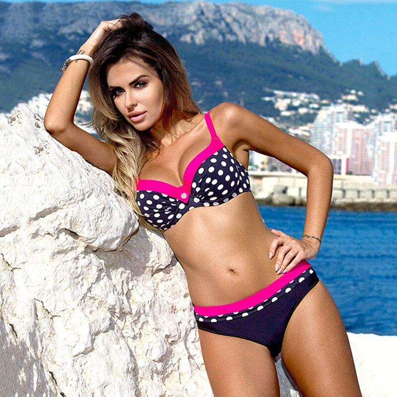 Sexy Push Up Bikini 19 Women Swimwear Print biquini femme Brazilian Bikinis Set Bathing Suit Women Beachwear Female Swimsuit 30