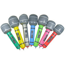 New Hot Inflatable Microphone Blow Up Singing Party Time Star Disco Children Kids Gift Party Supplies(China)