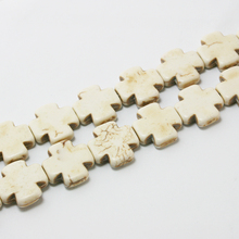 Free Shipping 15*15mm Howlite Cross Beads Synthetise Dyed 15'' Fit Jewelry Women BTB208-69