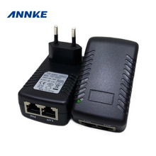 ANNKE POE Injector 48V 0.5A poe power adapter for IP security camera POE pin 4&5(+), 7&8(-) EU plug available