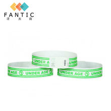 New arrival 200pcs without logo good quality security bracelet paper cheap custom paper wristband security  wristbands